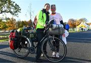 11 November 2018; Michelle Clarke, from Galway City, left, and her mother, Mary Clarke, from Ennistymon, Co. Clare, ahead of the Remembrance Run 5K 2018 at the Phoenix Park in Dublin. Photo by Sam Barnes/Sportsfile