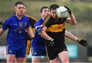 11 November 2018; Daithí Casey of Dr Crokes in action against Colm Keane and Eoin McGreevey, behind, of St Finbarr's during the AIB Munster GAA Football Senior Club Championship semi-final match between Dr Crokes and St Finbarr's at Dr Crokes GAA, in Killarney, Co. Kerry. Photo by Piaras Ó Mídheach/Sportsfile