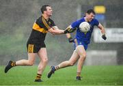 11 November 2018; Shane Doolan of Dr Crokes in action against Colm Keane St Finbarr's during the AIB Munster GAA Football Senior Club Championship semi-final match between Dr Crokes and St Finbarr's at Dr Crokes GAA, in Killarney, Co. Kerry. Photo by Piaras Ó Mídheach/Sportsfile