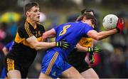 11 November 2018; Ian Maguire of St Finbarr's in action against Gavin White, left, and Daithí Casey of Dr Crokes during the AIB Munster GAA Football Senior Club Championship semi-final match between Dr Crokes and St Finbarr's at Dr Crokes GAA, in Killarney, Co. Kerry. Photo by Piaras Ó Mídheach/Sportsfile