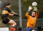 11 November 2018; John Kerins St Finbarr's looks on as Micheál Burns of Dr Crokes palms the ball to the net for his side's fourth goal during the AIB Munster GAA Football Senior Club Championship semi-final match between Dr Crokes and St Finbarr's at Dr Crokes GAA, in Killarney, Co. Kerry. Photo by Piaras Ó Mídheach/Sportsfile