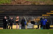 11 November 2018; Man of the Match Johnny Buckley of Dr Crokes is interviewed by Mícheál Ó Domhnaill of TG4 after the AIB Munster GAA Football Senior Club Championship semi-final match between Dr Crokes and St Finbarr's at Dr Crokes GAA, in Killarney, Co. Kerry. Photo by Piaras Ó Mídheach/Sportsfile