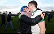 11 November 2018; Kieran Lillis of Portlaoise kisses his mother Mary following his side's victory in the AIB Leinster GAA Football Senior Club Championship quarter-final match between Moorefield and Portlaoise at St Conleth's Park in Newbridge, Co. Kildare. Photo by David Fitzgerald/Sportsfile