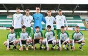 11 November 2018; Republic of Ireland team, back row from left, Anselmo Garcia MacNulty, Cian Kelly, Harry Halwax, Matt Everitt and Joshua Giurgi, front row from left, Thomas Considine, Matthew Healy, Alex Darren Dunne, Sean Kennedy, Kyle Martin-Conway and Seamas Keogh prior to the U17 International Friendly match between Republic of Ireland and Czech Republic at Tallaght Stadium in Tallaght, Dublin. Photo by Seb Daly/Sportsfile