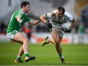 11 November 2018; Gareth Dillon of Portlaoise in action against Ian Meehan of Moorefield during the AIB Leinster GAA Football Senior Club Championship quarter-final match between Moorefield and Portlaoise at St Conleth's Park in Newbridge, Co. Kildare. Photo by David Fitzgerald/Sportsfile