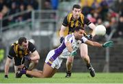 11 November 2018; Craig Dias of Kilmacud Crokes in action against Robert McCarthy of St. Peter's Dunboyne during the AIB Leinster GAA Football Senior Club Championship Round 1 match between St. Peter's Dunboyne and Kilmacud Crokes at Páirc Tailteann in Navan, Co. Meath. Photo by Dáire Brennan/Sportsfile