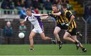 11 November 2018; Callum Pearson of Kilmacud Crokes in action against Jack Donnelly of St Peter's Dunboyne during the AIB Leinster GAA Football Senior Club Championship Round 1 match between St Peter's Dunboyne and Kilmacud Crokes at Páirc Tailteann in Navan, Co. Meath. Photo by Daire Brennan/Sportsfile