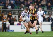11 November 2018; Shane Horan of Kilmacud Crokes in action against Seán Ryan of St Peter's Dunboyne during the AIB Leinster GAA Football Senior Club Championship Round 1 match between St Peter's Dunboyne and Kilmacud Crokes at Páirc Tailteann in Navan, Co. Meath. Photo by Daire Brennan/Sportsfile