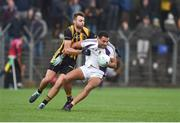 11 November 2018; Craig Dias of Kilmacud Crokes in action against Niall Jones of St Peter's Dunboyne during the AIB Leinster GAA Football Senior Club Championship Round 1 match between St Peter's Dunboyne and Kilmacud Crokes at Páirc Tailteann in Navan, Co. Meath. Photo by Daire Brennan/Sportsfile