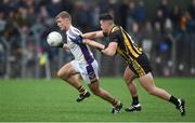 11 November 2018; Callum Pearson of Kilmacud Crokes in action against Gavin McCoy of St Peter's Dunboyne during the AIB Leinster GAA Football Senior Club Championship Round 1 match between St Peter's Dunboyne and Kilmacud Crokes at Páirc Tailteann in Navan, Co. Meath. Photo by Daire Brennan/Sportsfile