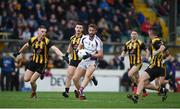 11 November 2018; Shane Horan of Kilmacud Crokes in action against Craig Lowndes, left, and Shane McEntee of St Peter's Dunboyne during the AIB Leinster GAA Football Senior Club Championship Round 1 match between St Peter's Dunboyne and Kilmacud Crokes at Páirc Tailteann in Navan, Co. Meath. Photo by Daire Brennan/Sportsfile