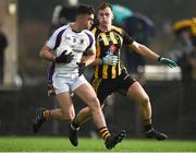 11 November 2018; Conor Casey of Kilmacud Crokes in action against Ronan Jones of St. Peter's Dunboyne following the AIB Leinster GAA Football Senior Club Championship Round 1 match between St. Peter's Dunboyne and Kilmacud Crokes at Páirc Tailteann in Navan, Co. Meath. Photo by Dáire Brennan/Sportsfile