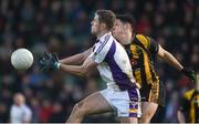 11 November 2018; Paul Mannion of Kilmacud Crokes in action against Seamus Lavin of St. Peter's Dunboyne following the AIB Leinster GAA Football Senior Club Championship Round 1 match between St. Peter's Dunboyne and Kilmacud Crokes at Páirc Tailteann in Navan, Co. Meath. Photo by Dáire Brennan/Sportsfile