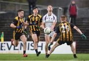 11 November 2018; Paul Mannion of Kilmacud Crokes in action against Cathal Finn, left, Seamus Lavin and Cian O'Dwyer of St. Peter's Dunboyne following the AIB Leinster GAA Football Senior Club Championship Round 1 match between St. Peter's Dunboyne and Kilmacud Crokes at Páirc Tailteann in Navan, Co. Meath. Photo by Dáire Brennan/Sportsfile