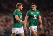 10 November 2018; Will Addison, left, and Jacob Stockdale of Ireland during the Guinness Series International match between Ireland and Argentina at the Aviva Stadium in Dublin. Photo by Ramsey Cardy/Sportsfile