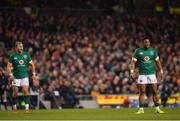 10 November 2018; Will Addison, left, and Bundee Aki of Ireland during the Guinness Series International match between Ireland and Argentina at the Aviva Stadium in Dublin. Photo by Ramsey Cardy/Sportsfile