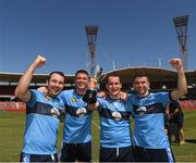 11 November 2018; Michael Bowles, 3, Cathal Naughton, 5, Aidan McNaughton, 20 and Ryan fallon, of the victorious NSW GAA team who beat GAA Victoria in a Divisional Challenge game before the Wild Geese Cup match between Galway and Kilkenny at Spotless Stadium in Sydney, Australia. Photo by Ray McManus/Sportsfile