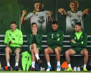12 November 2018; Players, from left, James McClean, Richard Keogh, Conor Hourihane and Alan Browne during Republic of Ireland training at the FAI National Training Centre in Abbotstown, Dublin. Photo by Stephen McCarthy/Sportsfile