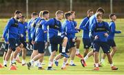 12 November 2018; Steven Davis, centre, and Jamie Ward, right, during a Northern Ireland Training Session at Gannon Park in Malahide, Dublin. Photo by David Fitzgerald/Sportsfile