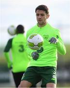 12 November 2018; Robbie Brady during a Republic of Ireland training session at the FAI National Training Centre in Abbotstown, Dublin.  Photo by Stephen McCarthy/Sportsfile