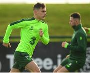 12 November 2018; Lee O'Connor during a Republic of Ireland training session at the FAI National Training Centre in Abbotstown, Dublin.  Photo by Stephen McCarthy/Sportsfile