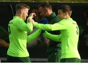 12 November 2018; Seamus Coleman, right, and James McClean during a Republic of Ireland training session at the FAI National Training Centre in Abbotstown, Dublin.  Photo by Stephen McCarthy/Sportsfile
