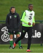 12 November 2018; Michael Obafemi and assistant manager Roy Keane, left, during a Republic of Ireland training session at the FAI National Training Centre in Abbotstown, Dublin.  Photo by Stephen McCarthy/Sportsfile