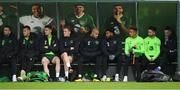12 November 2018; Republic of Ireland players, from left, Shane Duffy, Kevin Long, Darragh Lenihan, Ronan Curtis, Darren Randolph, Cyrus Christie, Callum Robinson, Sean Maguire and Shaun Williams during a Republic of Ireland training session at the FAI National Training Centre in Abbotstown, Dublin.  Photo by Stephen McCarthy/Sportsfile