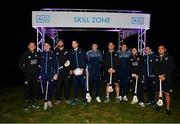 12 November 2018; Players, from left, Ryan Crotty of New Zealand All Blacks, Dublin's Cormac Costello, Kieran Read of New Zealand All Blacks, Dublin's Dean Rock, Dublin's Eoghan O'Donnell, Owen Franks of New Zealand All Blacks, Dublin's Conal Keaney, Damian McKenzie of New Zealand All Blacks, Dublin's Stephen Cluxton and Codie Taylor of New Zealand All Blacks, ahead of the AIG Skills Challenge, which brought together the All Ireland Champions, Dublin, and the World Rugby Champions, the New Zealand All Blacks' for a head to head sporting challenge in Castleknock Golf Club.  Photo by Ramsey Cardy/Sportsfile
