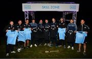 12 November 2018; Players, from left, New Zealand All Blacks Damian McKenzie, New Zealand All Blacks Ryan Crotty, New Zealand All Blacks Codie Taylor, Eoghan O'Donnell, Dublin's Stephen Cluxton, Dublin's Cormac Costello, Dublin's Dean Rock, New Zealand All Blacks' Kieran Read, Dublin's Conal Keaney and Owen Franks, following the AIG Skills Challenge, which brought together the All Ireland Champions, Dublin, and the World Rugby Champions, the New Zealand All Blacks' for a head to head sporting challenge in Castleknock Golf Club.  Photo by Ramsey Cardy/Sportsfile