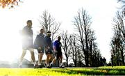13 November 2018; Ireland players, from left, Quinn Roux, Kieran Marmion, Finlay Bealham and Jack McGrath, arrive for Ireland rugby squad training at Carton House in Maynooth, Co. Kildare. Photo by Ramsey Cardy/Sportsfile