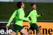 13 November 2018; Jeff Hendrick, right, during a Republic of Ireland training session at the FAI National Training Centre in Abbotstown, Dublin. Photo by Stephen McCarthy/Sportsfile