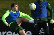 13 November 2018; Seamus Coleman during a Republic of Ireland training session at the FAI National Training Centre in Abbotstown, Dublin. Photo by Stephen McCarthy/Sportsfile