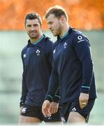13 November 2018; Rob Kearney, left, and Will Addison during Ireland rugby squad training at Carton House in Maynooth, Co. Kildare. Photo by Ramsey Cardy/Sportsfile