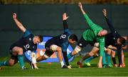 13 November 2018; Ireland players, from left, Tadhg Furlong, Quinn Roux, Devin Toner and Jacob Stockdale during squad training at Carton House in Maynooth, Co. Kildare. Photo by Ramsey Cardy/Sportsfile