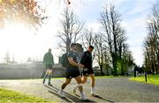 13 November 2018; Andrew Porter, left, and Garry Ringrose arrives for Ireland rugby squad training at Carton House in Maynooth, Co. Kildare. Photo by Ramsey Cardy/Sportsfile
