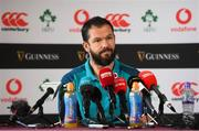 13 November 2018; Defence coach Andy Farrell during an Ireland rugby press conference at Carton House in Maynooth, Co. Kildare. Photo by Ramsey Cardy/Sportsfile
