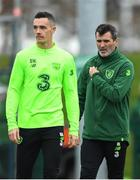 14 November 2018; Republic of Ireland assistant manager Roy Keane and Shaun Williams during a Republic of Ireland training session at the FAI National Training Centre in Abbotstown, Dublin. Photo by Stephen McCarthy/Sportsfile
