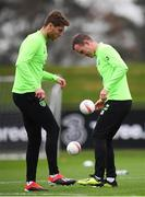 14 November 2018; Glenn Whelan, right, and Jeff Hendrick during a Republic of Ireland training session at the FAI National Training Centre in Abbotstown, Dublin. Photo by Stephen McCarthy/Sportsfile