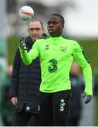 14 November 2018; Michael Obafemi and Republic of Ireland manager Martin O'Neill during a training session at the FAI National Training Centre in Abbotstown, Dublin. Photo by Stephen McCarthy/Sportsfile