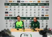 14 November 2018; Glenn Whelan and Republic of Ireland manager Martin O'Neill during a press conference at the FAI National Training Centre in Abbotstown, Dublin. Photo by Stephen McCarthy/Sportsfile