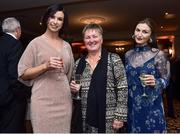 9 November 2018; Lorraine Counihan, left, Niamh O'Donoghue, centre, and Fionnuala Moran in attendance during the Continental Tyres Women's National League Awards at Ballsbridge Hotel, in Dublin. Photo by Matt Browne/Sportsfile