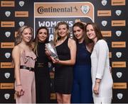 9 November 2018; Erica Turner from UCD Wave with her Young Player of the Year award with, from left, Kerri Letmon, Chloe Singleton, Roisin McGovern and Aisling Spillane during the Continental Tyres Women's National League Awards at Ballsbridge Hotel, in Dublin. Photo by Matt Browne/Sportsfile