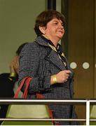 15 November 2018; DUP leader Arlene Foster prior to the International Friendly match between Republic of Ireland and Northern Ireland at the Aviva Stadium in Dublin. Photo by Seb Daly/Sportsfile