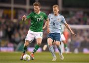 15 November 2018; Jeff Hendrick of Republic of Ireland in action against George Saville of Northern Ireland during the International Friendly match between Republic of Ireland and Northern Ireland at the Aviva Stadium in Dublin. Photo by Harry Murphy/Sportsfile