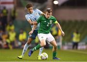 15 November 2018; Seamus Coleman of Republic of Ireland in action against Jamal Lewis of Northern Ireland during the International Friendly match between Republic of Ireland and Northern Ireland at the Aviva Stadium in Dublin. Photo by Harry Murphy/Sportsfile