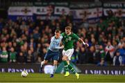 15 November 2018; Steven Davis of Northern Ireland in action against James McClean of Republic of Ireland during the International Friendly match between Republic of Ireland and Northern Ireland at the Aviva Stadium in Dublin. Photo by Seb Daly/Sportsfile