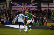 15 November 2018; James McClean of Republic of Ireland in action against Michael Smith of Northern Ireland during the International Friendly match between Republic of Ireland and Northern Ireland at the Aviva Stadium in Dublin. Photo by Seb Daly/Sportsfile