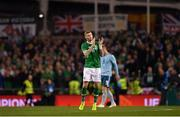 15 November 2018; James McClean of Republic of Ireland applauds the supporters as he leaves the pitch during the International Friendly match between Republic of Ireland and Northern Ireland at the Aviva Stadium in Dublin. Photo by Seb Daly/Sportsfile