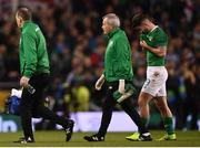 15 November 2018; Sean Maguire leaves the pitch with Republic of Ireland team doctor Alan Byrne during the International Friendly match between Republic of Ireland and Northern Ireland at the Aviva Stadium in Dublin. Photo by Stephen McCarthy/Sportsfile